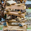stack of firewood ready for fireplace