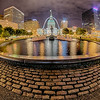 saint louis city skyline at night