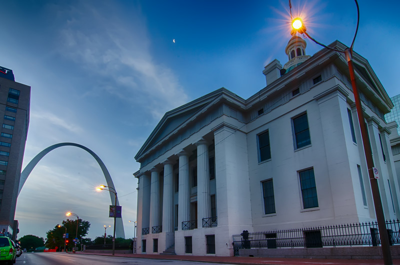 old court house and surrounding buildings in saint louis