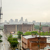 cincinnati skyline on rainy day