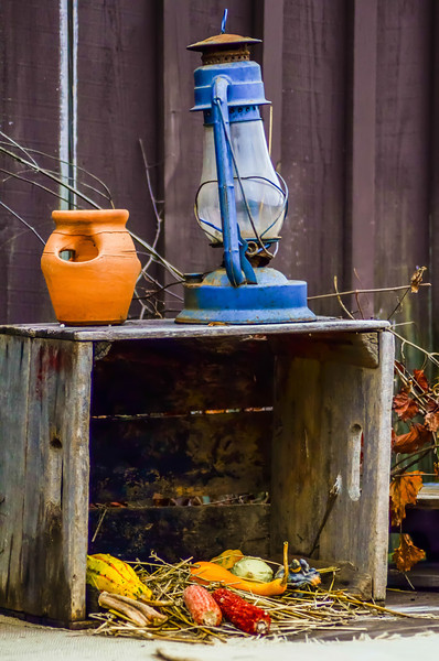 rustic old oil lantern