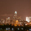 Skyline of uptown Charlotte, North Carolina at night.