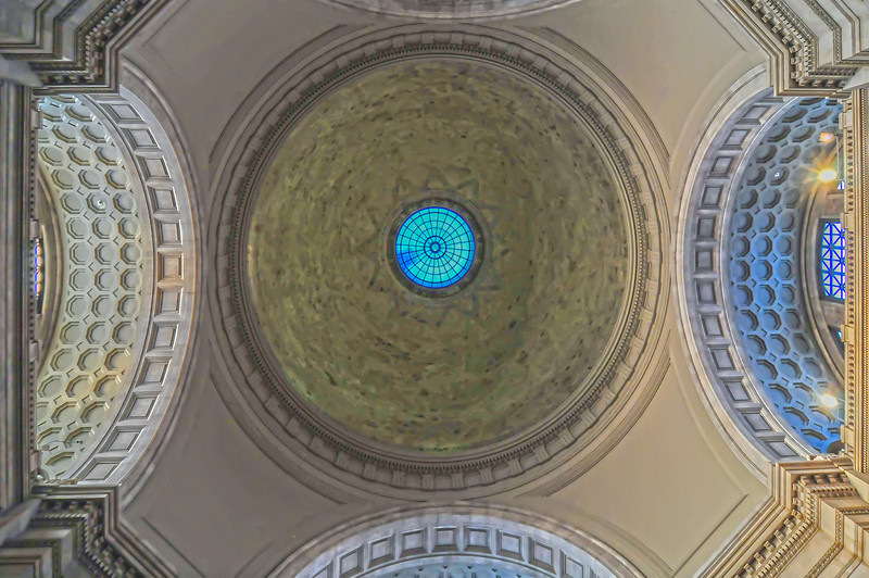 The interior of the dome of the museum in Washington, DC.