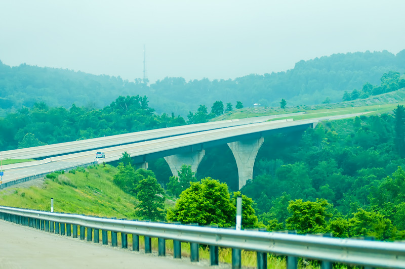 highway runs through mountains of west virginia