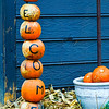 pumpkins welcome sign decorations