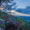 beautiful aerial landscape views from crowders mountain near gastonia north carolina