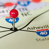 asheville north carolina pin othe map