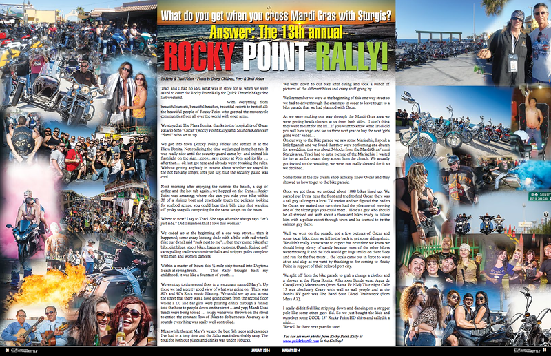 January 2014 photos from Rocky Point, 2 page spread