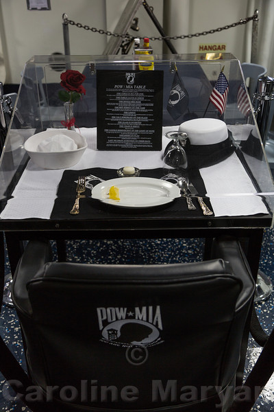 POW/MIA Table on the USS Harry S. Truman