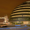 London | UK City hall and Tower bridge at night