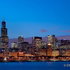 Chicago | USA Captivating view at dusk from the Adler Planetarium