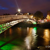 Dublin | Ireland The beautifully lit Ha'penny bridge
