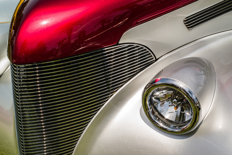 Grill and Headlight: Good Guys Auto Show, Pleasanton, CA