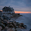 Scituate, Mass. beach house at sunrise
