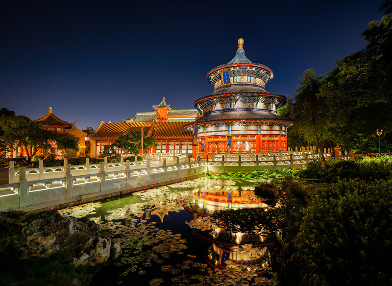 """<h2>Ancient China</h2> <br/>No it isn't! <br/><br/>This was shot at Disneyworld at Epcot center. Want to know a great Disney shooting trick? They won't like me telling you this… but I'll tell you anyway. The Disney people are very nice to me, but that won't stop me from being totally honest with tricky advice!<br/><br/>The advice is this. Stay at a resort (this gives you extra hours), and be sure to go to Epcot on their extra-hours night. While there, get the the point as far away from possible as the exit gate at close time. Then you can slowly take your time and work your way back. You'll see no tourists or anyone! I saw this place almost totally alone… so cool!<br/><br/>- Trey Ratcliff<br/><br/><a href=""""http://www.stuckincustoms.com/2013/06/02/ancient-china/"""" rel=""""nofollow"""">Click here to read the rest of this post at the Stuck in Customs blog.</a>"""