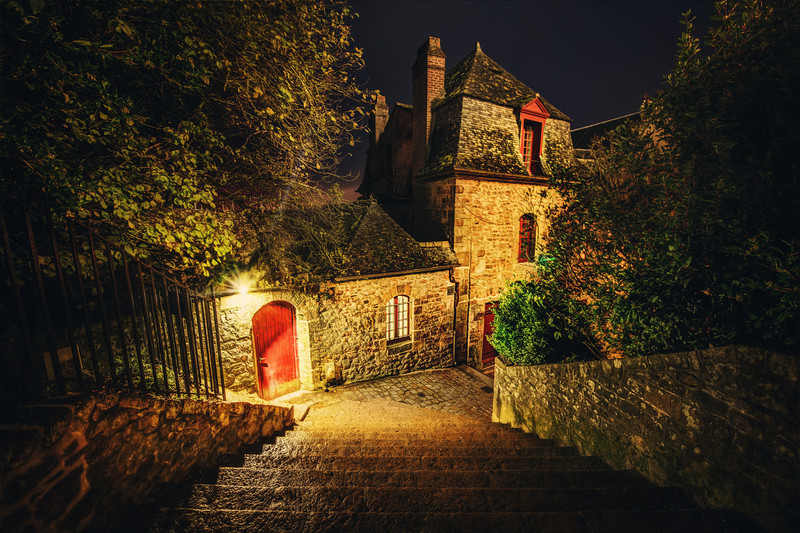 The Streets of Mont Saint Michel I miss this place already!I had a magical time exploring this place night after night. It never got boring and there were hundreds of little nooks, crannies, staircases, doors, and other mysteries to discover! I even got in the middle of a cat fight while two medieval cats duked it out… the whole place was dead quiet up until the point. That sound of fighting cats is hard to ignore… and then it all went back to quiet after that.By the way, if you ever come to this amazing place, I suggest you sleep up inside the walled city. There aren't a lot of rooms up there, so plan ahead. I think it's better than staying outside of the city, because you get to roam around inside of it at night…- Trey RatcliffClick here to read the rest of this post at the Stuck in Customs blog.