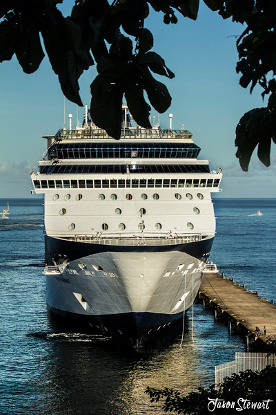 Cruise ship docked at St.George's harbour, Grenada