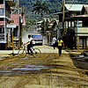 The village of Roatan in Guatamala  in 1981 .  This  photo was converrted from an old 35 mm slide. It looks best in Giclee.