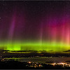 Aurora over Bar Harbor