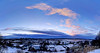 Panorama of Portland after a large snowstorm. Taken shortly before sunset.