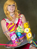 Honey from Space Dandy cosplay by Heidi Lollipop Chainsaw at Anime Expo - #AX2014
