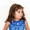 Beautiful toddler in a flowered dress