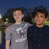 Javier and Zack Visiting the Capitol at Night