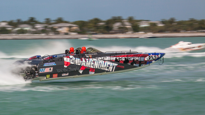 2nd Amendment competes at the 2013 SBI Superboat International Offshore Powerboat World Championships at Key West, Florida, USA. Cathy Vercoe LuvMyBoat.com