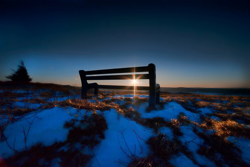Bench on top of mountain...........................to purchase - http://dan-friend.artistwebsites.com/featured/bench-on-top-of-mountain-at-sunset-dan-friend.html?newartwork=true