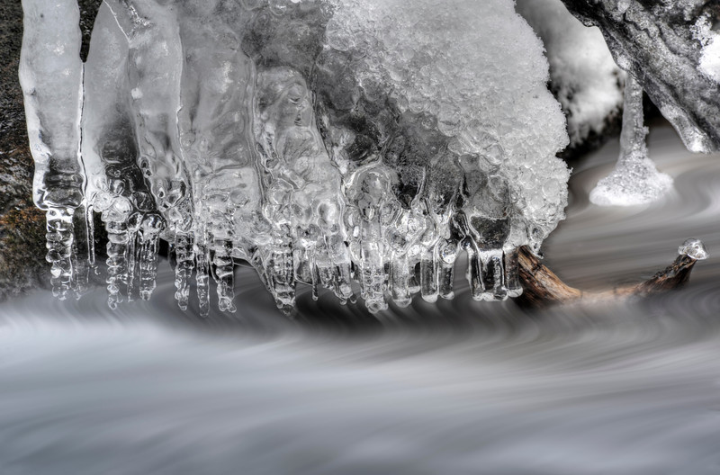 Ice formation above stream
