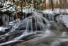 Small stream waterfall in winter - to purchase - http://dan-friend.artistwebsites.com/featured/small-stream-waterfall-in-winter-dan-friend.html?newartwork=true