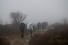 Hikers going into the fog at Dolly Sods  to purchase - http://dan-friend.artistwebsites.com/featured/hikers-going-into-the-fog-at-dolly-sods-dan-friend.html