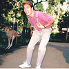 Randy's boyfriend (wearing Randy's clothes) at an animal park in Sydney.