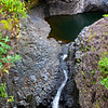 17.Waterfall and pool on the Pipiwai Trail. Once your have made it to Hana, there are wonderful hikes.   One of the great hikes in the Hana area is the Pipiwai Trail,Located at the end of the Hana Highway in the Kipahulu area of Haleakala National Park.