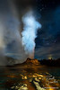 Midnight Eruption at Castle Geyser