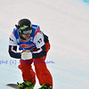 VEYSONNAZ, SWITZERLAND - JANUARY 19:  Finalist Nick Baumgartner (US) at the FIS World Championship Snowboard Cross finals : January 19, 2012 in Veysonnaz Switzerland