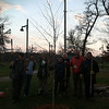 Inaugural Iowa City TreeKeepers volunteers celebrate their first successful community tree planting at Lower City Park. DH