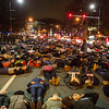 """Protesters stage a """"die in"""" in front of Massachusetts Institute of Technology near the Mass. Ave bridge in Cambridge, Mass. during a protest demanding justice for Michael Brown and Eric Garner on Friday, Dec. 5, 2014. (Scott Eisen for The Boston Globe)"""