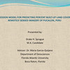 """Thesis Poster: """"A Regression Model for Predicting Percent Built-up Land Cover from Remotely Sensed Imagery of Pucallpa, Peru"""""""