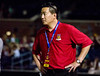 Arizona United SC Owner Kyle Eng watches the final minutes of the game during Arizona United's 2-1 victory of Sacramento Rebublic on April 19. 2014.  The win was the first in franchise history.