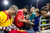 Arizona United's Evan Newton and Daniel Atunez sign autographs for young fans following Arizona United's 2-1 victory over Sacramento Republic on April 19, 2014.