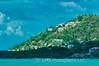 Houses On Hillside In St Lucia