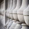 Row of Concrete Balusters