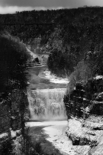 Upper and Middle Falls Letchworth State Park