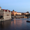 Vltava River at sunset, Prague.