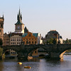 The Charles Bridge was the only bridge over the Vltava River until 1841, making it a major stop on the Eastern European trade route.