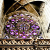 Beautiful rose window in St. Vitus Cathedral, Prague.