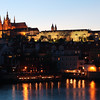 View of Prague Castle from across the Vltava River.