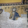 Deesis mosaic of Christ located in The Hagia Sophia, Istanbul, Turkey.
