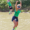 Stephanie Foster participates in a 5k mud run with her daughter Jessica..